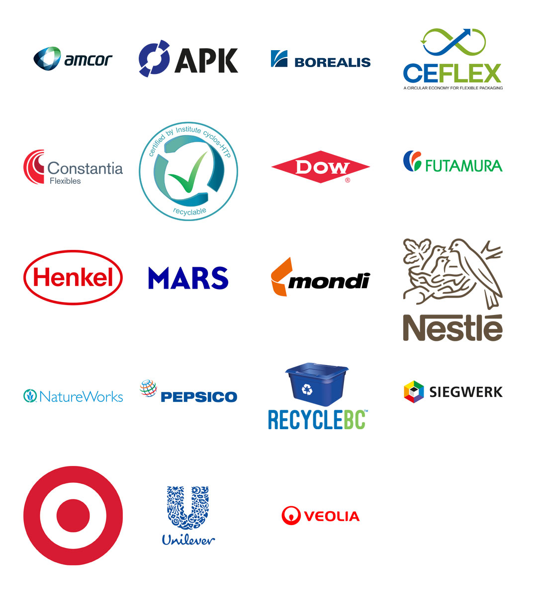 logos of all of the organisations involved in Project Barrier