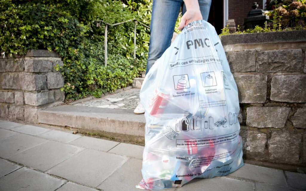 recycling bag for kerbside collection